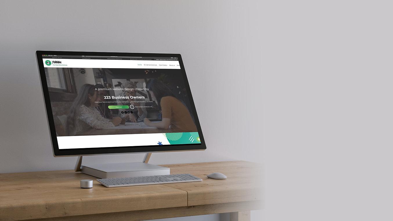 yewebs website design services first ban
