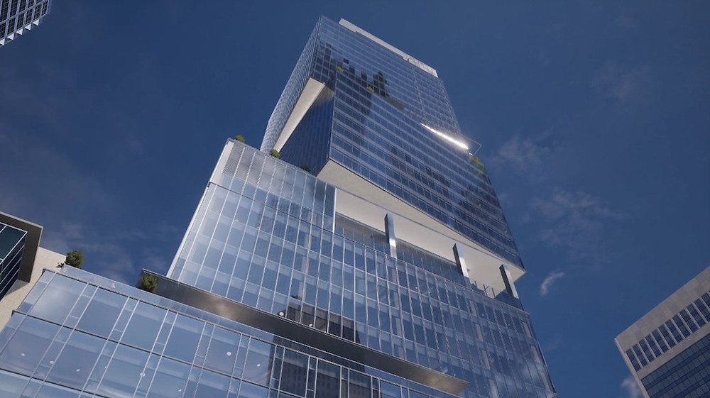 Rendering of The New Tallest Office Tower in Vancouver