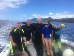 visiting divers and owner of golden rock dive center