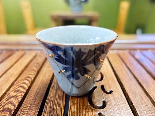 Ruci Blue Flower Tea Cup 50ml