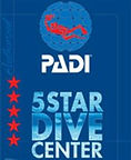 padi dive center with 5 stars rating