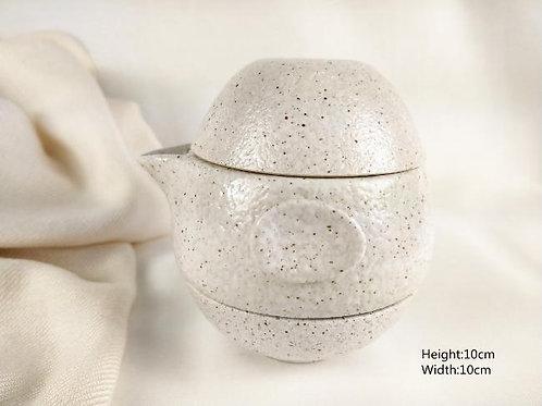 Janpanese stoneware tea set-White