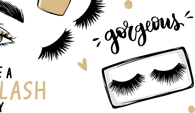 cartoon for the lashes magnet glam.png