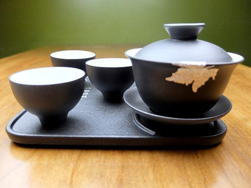 Maple Leaf Travel Tea Set with Gaiwan 200ml