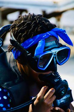 Kiddo in Blue