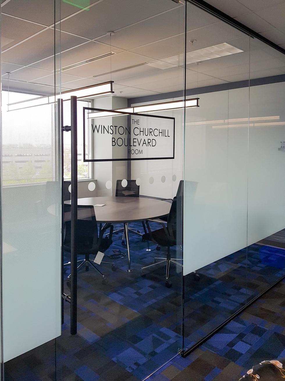 Custom Laser Cut Meeting Room Name Vinyl