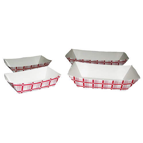 Food Tray (Red/White)