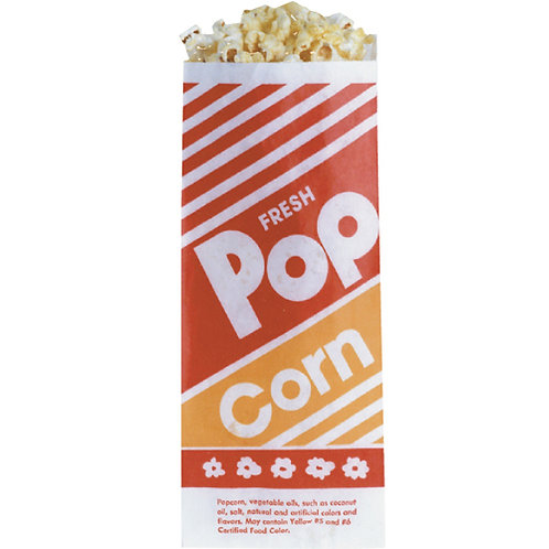 "Popcorn Bags 333 4"" x 1.75"" x 10"""