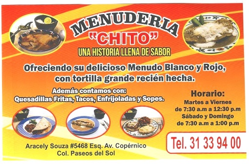 Menuderia - Chito