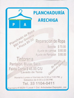 Planchaduria- Arechiga