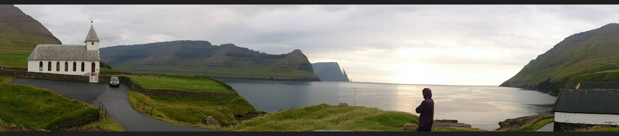 Vidareidl view Faroe Islands summer