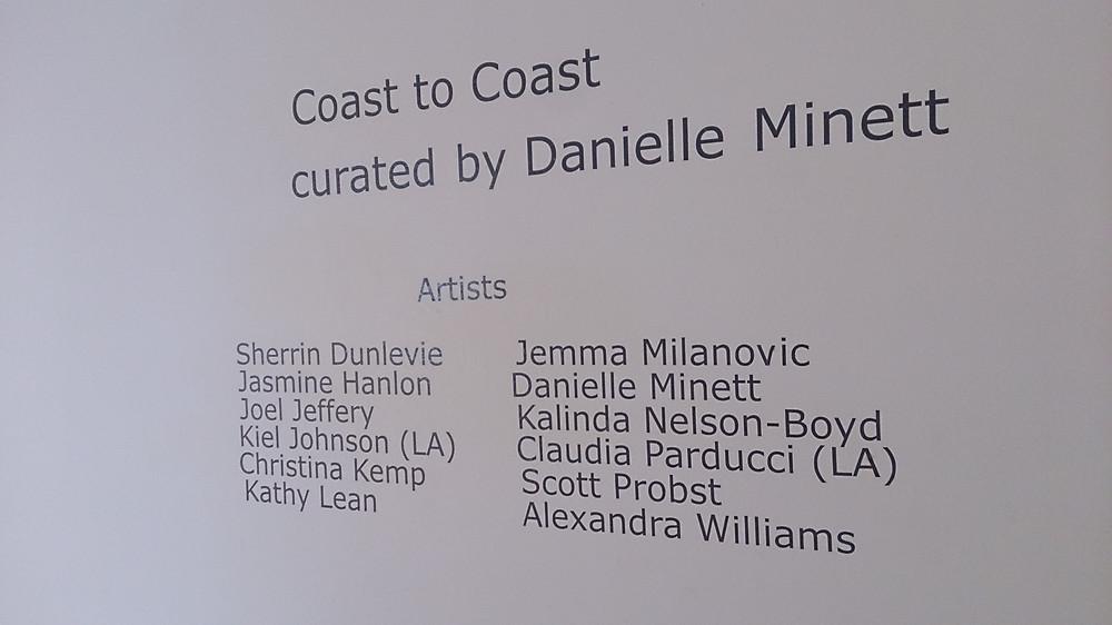 Coast to Coast Exhibition list