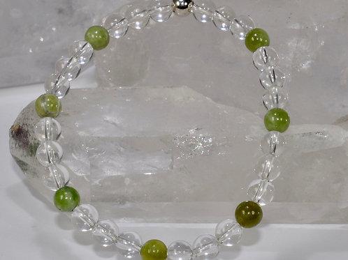 Armband Bergkristall und Grossular