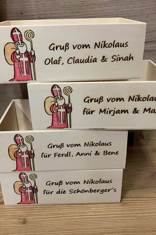 Personalisierte Nikolauskisterl