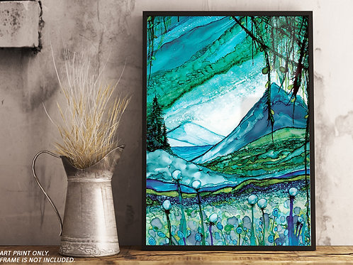 Turquoise Valley Painting