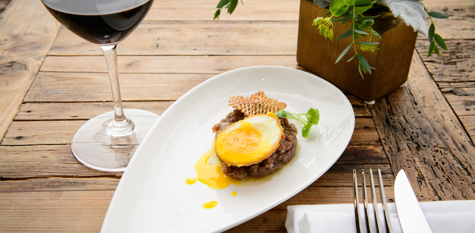 Beef Tartare & Farmhouse Egg