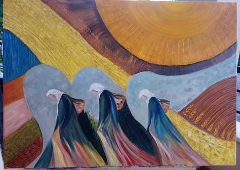sarı sıcakta kadınlar 50X70  M.K.Aytekin