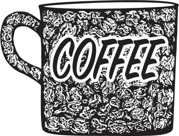 Coffee Illustration for T Shirts