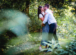 Shabeena & Will's engagement shoot at Wortley Hall