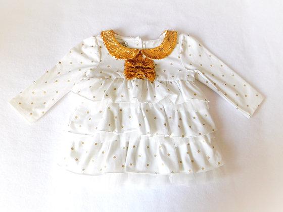 Polka Dot Sequined Shirt