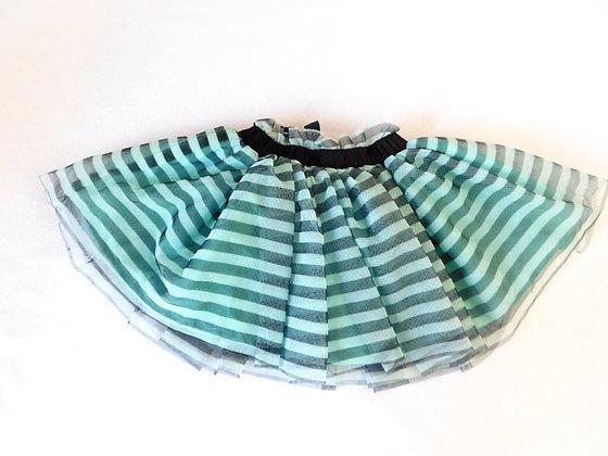 Striped Tulle Skirt (2T)