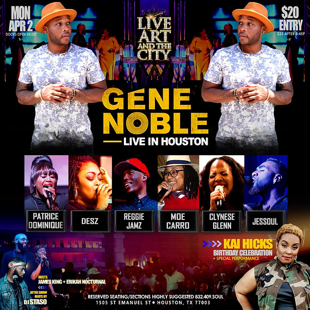 GENE NOBLE LIVE IN HOUSTON
