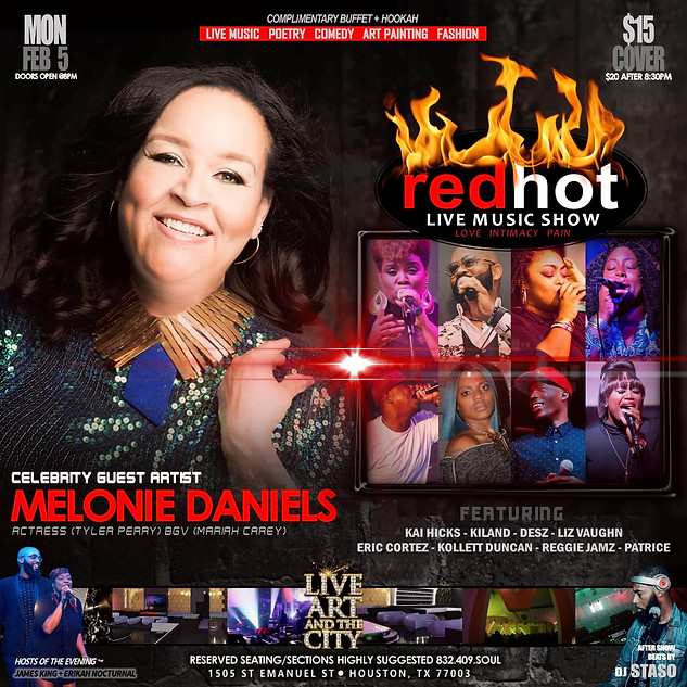 MELONIE DANIELS LIVE IN HOUSTON