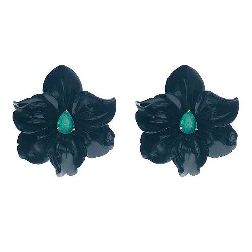 Orquídea Ágata Negra Esmeralda