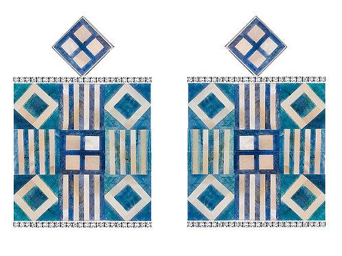 Brinco Mosaico Azul Claro