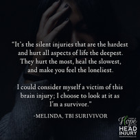 """""""The silent injuries are the hardest..."""" - Melinda's Survivor Story"""