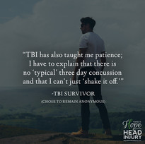"""TBI has taught me patience..."" - Survivor Story"