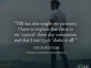 """TBI has taught me patience..."" - Survivor Story"