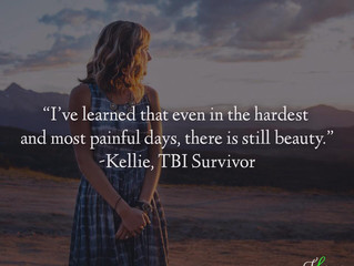 """Even in the hardest and most painful days, there is still beauty."" - Kellie's Survivo"
