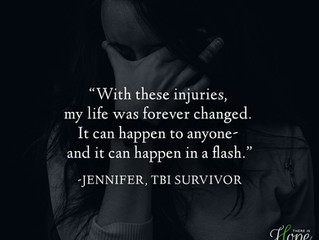 """""""It can happen to anyone, and it can happen in a flash... """" - Jennifer's Survivor Stor"""