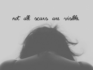 Not all scars are visible.