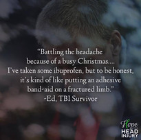 """Battling the headache because of a busy Christmas..."" - Ed's Survivor Story"