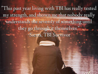 """This past year living with TBI has really tested my strength..."" Sierra's Survivor St"