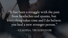 """It has been a struggle with the pain..."" - Claudia's Survivor Story"