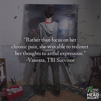 """She was able to redirect her thoughts to artful expression..."" - Vanessa's Survivor S"