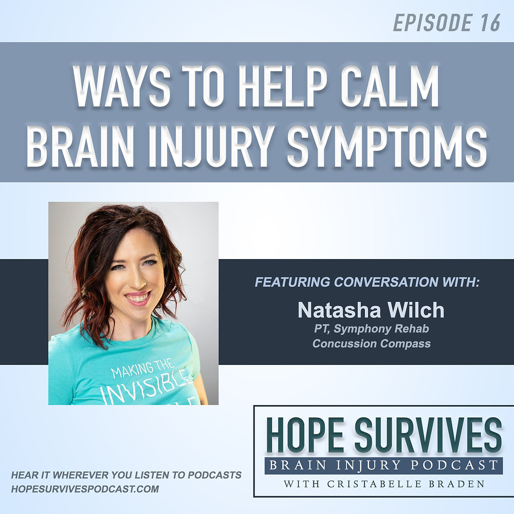 calm brain injury symptoms
