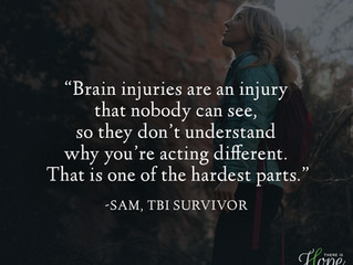 """""""Brain injuries are an injury that nobody can see..."""" - Sam's Survivor Story"""