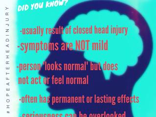 Did You Know? Mild TBI aka concussion aka minor brain injury