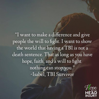 """""""As long as you have hope, faith, and a will to fight nothing can stop you."""" - Isabel'"""