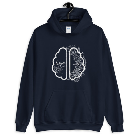 Hope Healing Brain Hoodie Brain Injury Awareness Apparel