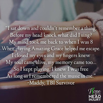 A poem about music in TBI recovery - Maddy's Survivor Story