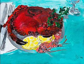 Crabe_peinture acrylique sur toile_H27XL