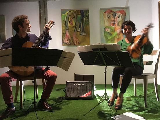 Dimitar Ivanov & Valérie Bernard, Galeri ContreContre 2018, photo Fabienne Samson