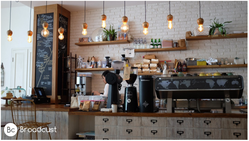 Broadcust service for coffee shops