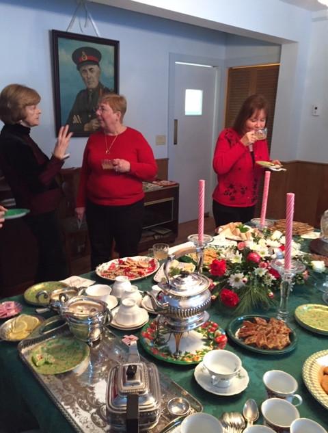 Christmas Tea at the Nichols Home