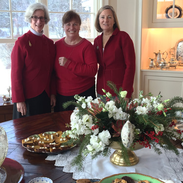 Hostess, Ann Maclaurin, with Becky Burke and Carol Munson